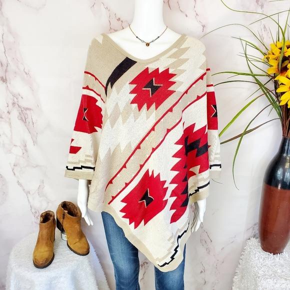 Boston Proper Sweaters - Boston Proper pullover soft knit boho poncho